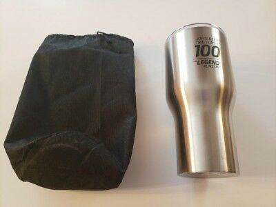 New John Deere Waterloo 100th Anniversary Employee only Tumbler with cinch sack