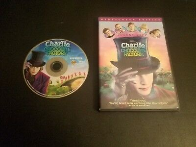 Charlie and the Chocolate Factory (DVD, 2005, Widescreen) ~ 100% Complete!
