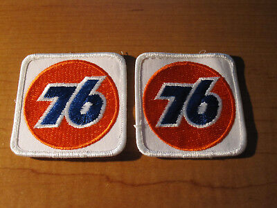 (2) Vintage UNION 76 Service Station Gas & Oil NOS Embroidered Cloth PATCH