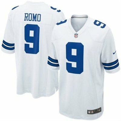 Nike Tony Romo Dallas Cowboys Replica White Game Jersey Multiple Sizes NWT 74ec92b4b