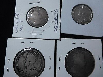 Canada Half dollars (2) and Quarters (2)