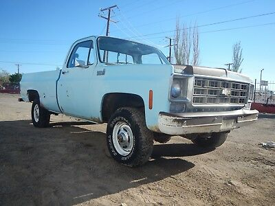 1978 Chevrolet C/K Pickup 1500 CUSTOM DELUXE 10 1978 CHEVY 1/2 TON 4X4 TRUCK ORIGINAL PAINT NEW MEXICO BARN FIND 1 OWNER