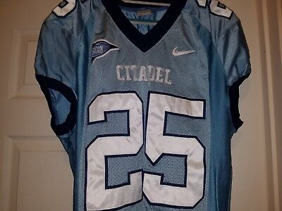 sale retailer 57816 871a6 THE CITADEL GAME Used Worn Nike Football Jersey