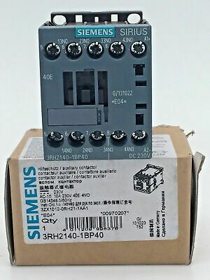 Siemens 3RH2140-1BP40 Auxiliary Contactor Relay 10A 230V DC Coil 4NO