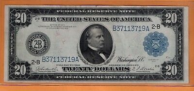 ***   1914  $20.00 Fed Res Note Blue Seal New York District  ***