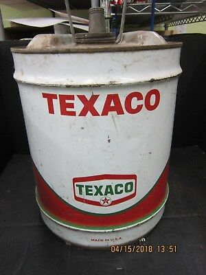 Texaco Five Gallon Can  Hex Logo