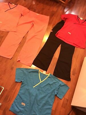 Womens Size Small Urbane Dickies Scrubs Lot Sets Pants Tops