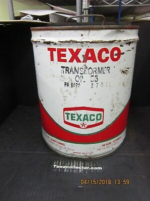Texaco Five Gallon Can  Transformer Oil