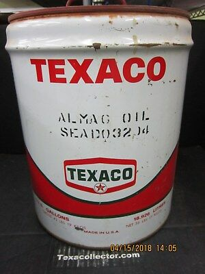 Texaco Five Gallon Can  Almag Oil
