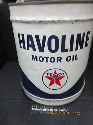 Texaco Five Gallon Can  Havoline 20W20