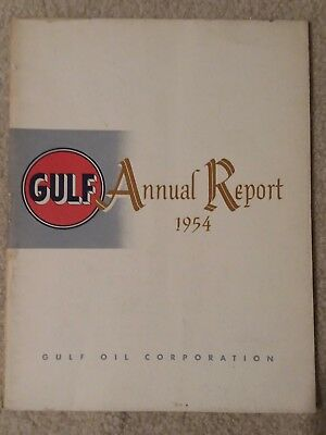 vintage 1954 GULF Oil Corporation annual report