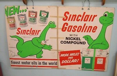 Vintage 1950-60's Sinclair Dino Gasoline/Oil Sign