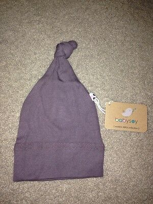 Babysoy Janey Baby Hat 6-12 Months NWT Acorn Color