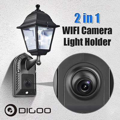 Digoo Outdoor WiFi Wireless IP Camera Wall light Holder Audio Video Surveillance