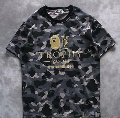 ac4917c913cb Men s Aape Japan Bronzing Monkey icon Camo A Bathing Ape Bape Crewneck T- shirt