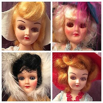 Vintage Dolls of the World Collectibles Antiques Arco Lot of Nine 1960's 1970's