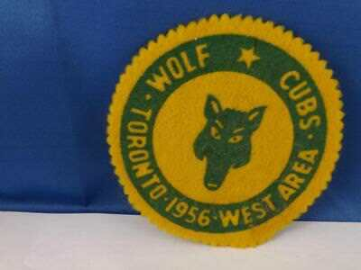 Boy Scouts Canada  Wolf Cubs Toronto 1956 Felt Patch Vintage Collector Badge