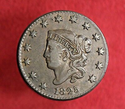 1825 Coronet Head Large Cent! >>> EXTREMELY PLEASING! ~~XF++! >>> SEE OUR STORE!