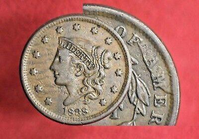1838 Coronet Head Large Cent! >>> SUPER CUD REVERSE!! >>> SEE OUR STORE!