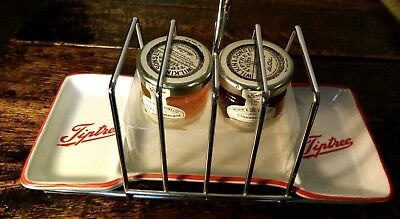 Tiptree 4 Slice Toast Rack With Pottery Tray By Wilkins & Sons Ltd