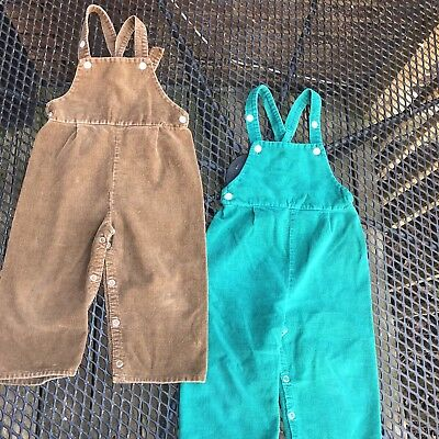 Vintage JCPenney Corduroy Overall Bundle Toddler Size 2T
