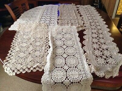 vintage chrochet Table Runners Lot 29