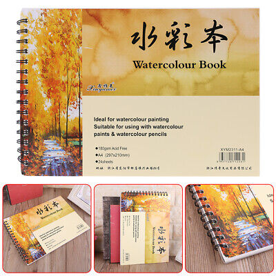A4 Watercolor Paper Art Artist Sketchbook Sketch Pad Drawing Painting 24 Sheet