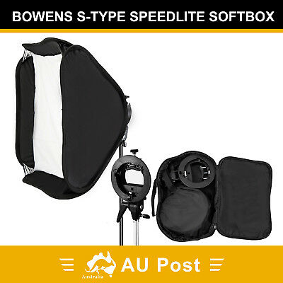Softbox Bowens Speedlite Mounts Flash Light 60cm Soft Box S-Type Diffuser