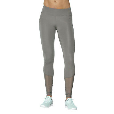 Asics Panel Damen Trainingshose Laufhose Jogginghose Sport Hose Tight Grau