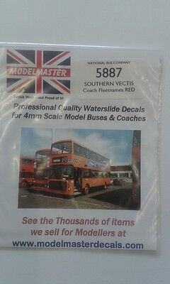 Southern Vectis Buchstaben, Transfers Folie - Modelmaster mm5887 L1