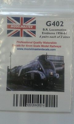 Transfers for Loco Crests 1956 -68 (12 Pairs) - Modelmaster MMG402 L1