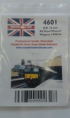 Numbers transfers for BR 16t mineral wagon (1948-65) - Modelmaster MM4601 L1