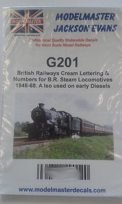 Lots of Numbers 0-9 plus BR for loco sides (three sizes) - Modelmaster MMG201 L1