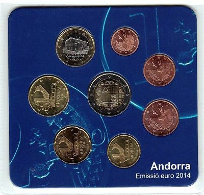kit starter  euro ANDORRE  2014 complet scelle neuf