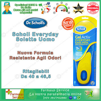 Dr Scholl Gel Active Everyday Uso Diario Solette Uomo