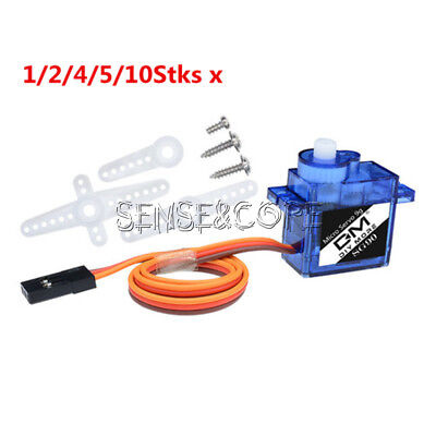 1/2/4/5/10Stks 9G SG90 Micro Servo Motor RC Robot Helicopter Airplane Car Boat S