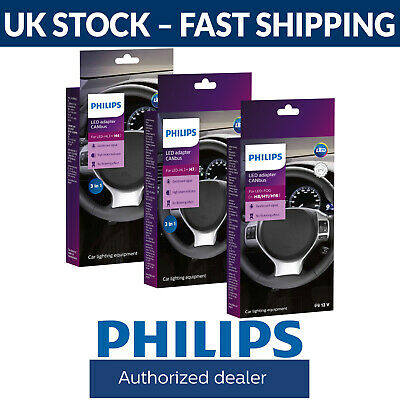 Philips LED Headlight CANbus Adapters H4 H7 H8 /H11/H16 Fittings (Twin Packs)