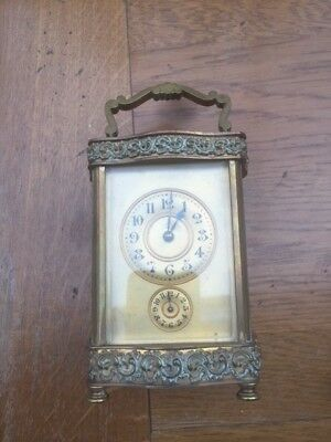 Antique/Vintage brass carriage clock (not working)
