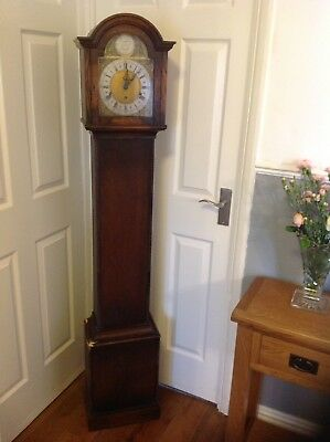 Very Pretty Oak Grandmother Clock For Upcycling Or Restoration