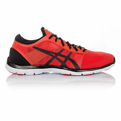 ASICS Gel Fit Nova Womens Red Cushioned Training Gym Shoes Trainers Pumps
