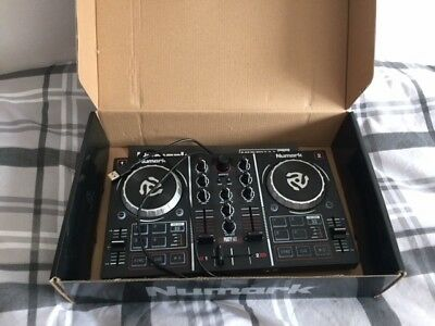 Numark Party Mix Two-Channel Starter DJ Controller with Built-In Sound Card, Lig