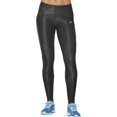 ASICS FINISH ADVANTAGE Femme Noir Compression Running Leggings Collants Caleçons