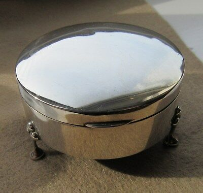 Solid Silver Trinket Box 1914