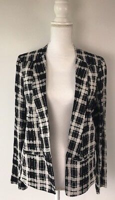 Ella Moss A Pea In The Pod Maternity Open Front Blazer Sz M Black White Career