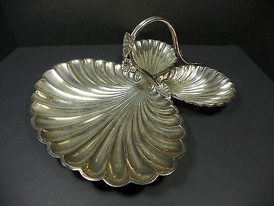 Antique Roberts & Belk Silver Plate Scalloped Decorative Tray Dish Sheffield