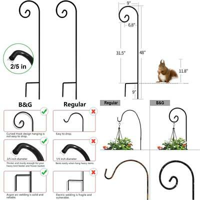 Shepherd Hook 48 Inch 2 Pack 2/5 Inch Thick Heavy Duty Rust Resistant Garden Out