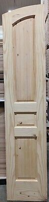 "Knotty Pine Interior Door with Radius Top, 18"" x 84"" x 1-3/8"", slab or prehung"