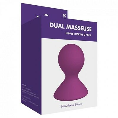 DUAL MASSUESE NIPPLE SUCKERS x 2 BULB PUMPS Inverted Nipples Care Enlarger