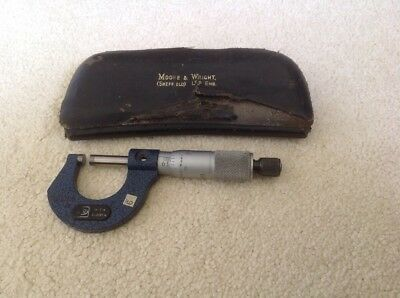 Moore and Wright Micrometer - Excellent Condition