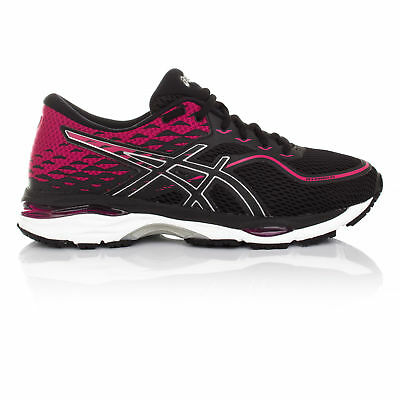 ebf69d8a08304 Asics Gel-Cumulus 19 Womens Black Cushioned Running Sports Shoes Trainers